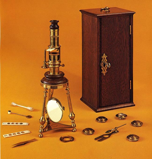 Robertson Screw-Barrel Microscope. ~ 1750